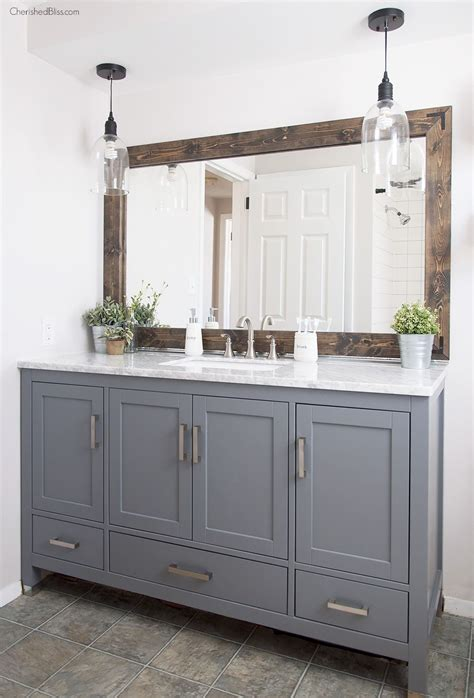 farmhouse bathroom vanity mirror industrial farmhouse bathroom reveal industrial farmhouse industrial and cozy