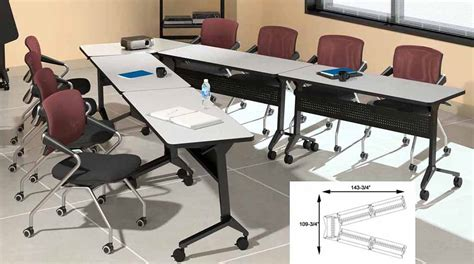 V Shaped Conference Table 48 Quot W X 18 Quot D Flip N Go Table Other Sizes Available