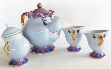 beauty and the beast pot beauty and the beast teapot cup mrs potts chip sugarpot