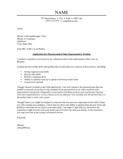 pharmaceutical sales cover letter