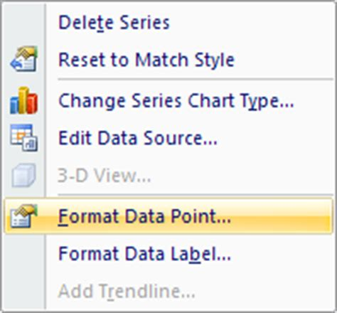 format data point excel 2007 excel 2007 to excel 2016 tutorials how to format pie