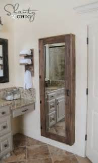 bathroom mirror with storage inside diy bathroom storage cabinet