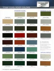 metal roof color chart metal roofing contractor