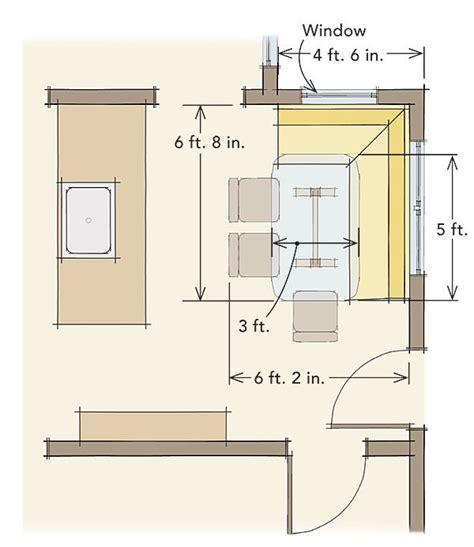breakfast nook bench dimensions comfortable dining nooks fine homebuilding