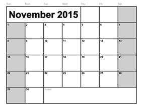 blank calendar template to print november 2015 calendar printable template 8 templates