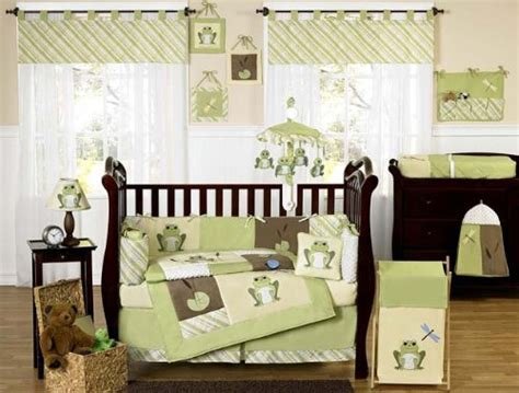 Green And Yellow Crib Bedding Yellow And Green Leap Frog Baby Boy Unisex Bedding 9pc Crib Set By Sweet Jojo Designs