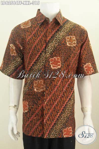 kemeja batik halus berbahan adem proses cap tulis motif sedia produk kemeja batik pria gemuk untuk kerja hem