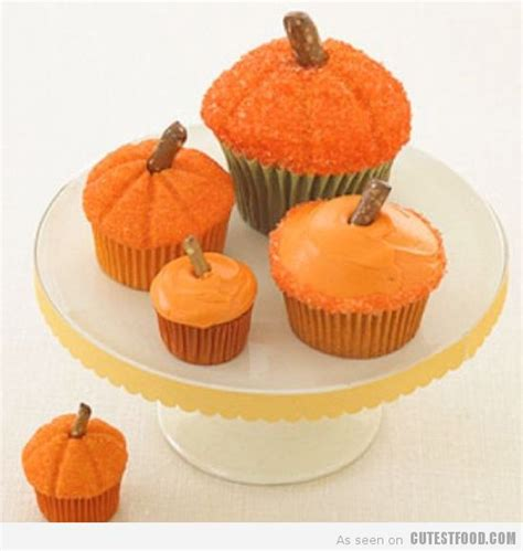 Pumpkin Decorated Cupcakes by Food Cupcakes Designer Cakes Cupcakes