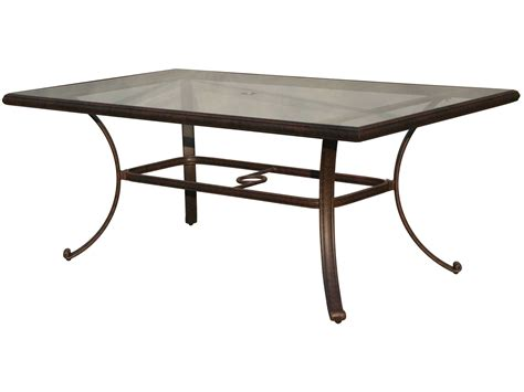 Rectangular Patio Table Darlee Outdoor Living Glass Top Cast Aluminum Antique Bronze 72 X 42 Rectangular Dining Table