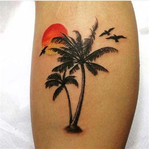 small palm tree tattoo palmiye ağacı d 246 vmesi palm tree ağa 231 d 246 vmeleri