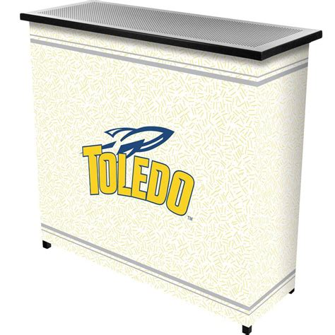 trademark of toledo 2 shelf black bar with