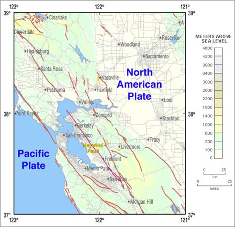 hayward fault map hayward fault zone