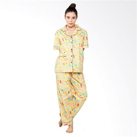 Baju Piyama Style Pocket jual aily sl005 setelan baju tidur piyama wanita kuning harga kualitas terjamin