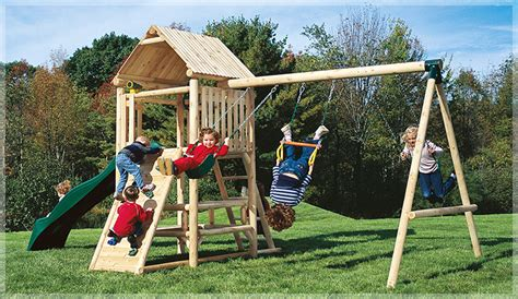 lookout swing set indoor outdoor playgrounds by cedarworks