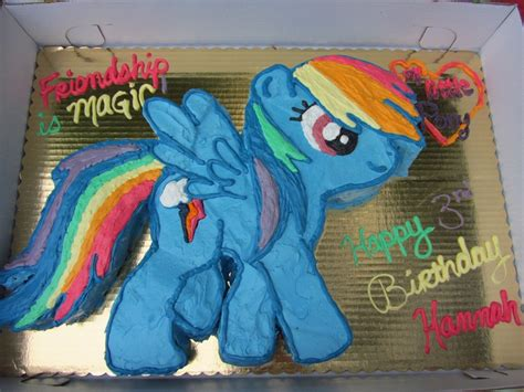 my little pony friendship is magic cake my daughter s my little pony rainbow dash cake friendship