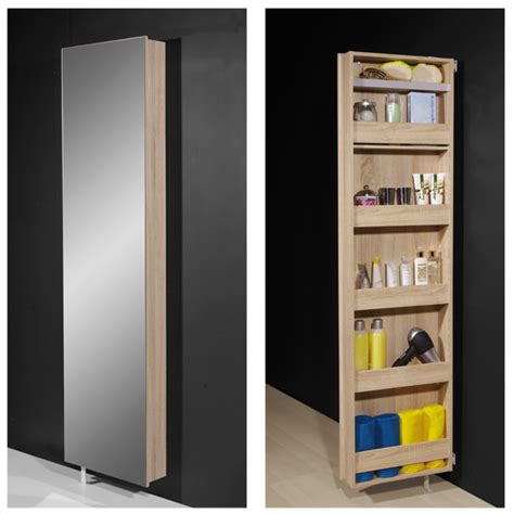 bathroom storage mirrored cabinet igma mirrored rotating bathroom and shoe storage cabinet in