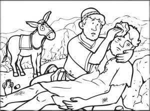 coloring page for good samaritan the good samaritan colouring ctmi kids