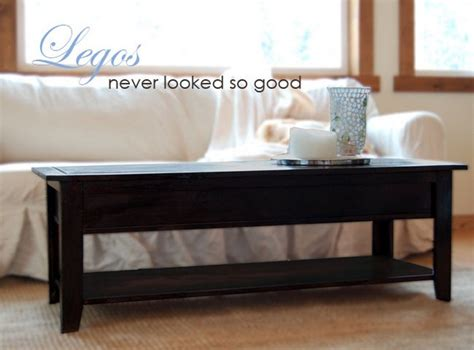 How To Build A Coffee Table With Storage Coffee Table And Lego Storage In One Your Projects Obn