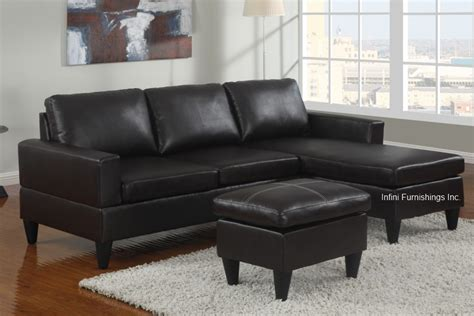 Small Black Leather Sectional Sofa Small Faux Leather Sectional Sofa Furniture Modern Espresso Black White Ebay