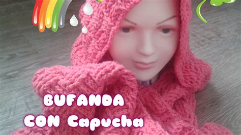 bufanda tejida crochet 2016 bufanda con capucha crochet de lana tejida youtube
