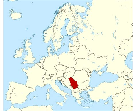 where is serbia on the map maps of serbia detailed map of serbia in