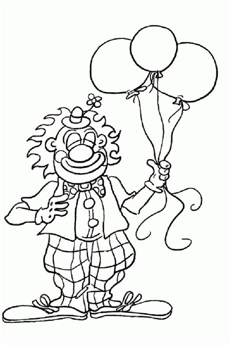 Free Clown Pictures To Print