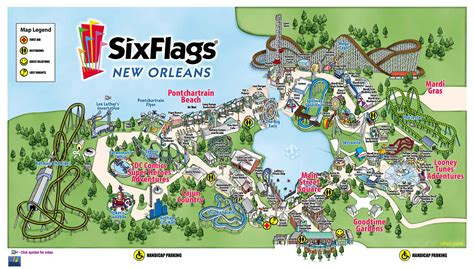 six flags texas park map six flags park maps