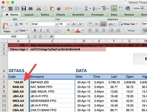 Yahoo Spreadsheet by How To Import Price Data Into Excel Market Index