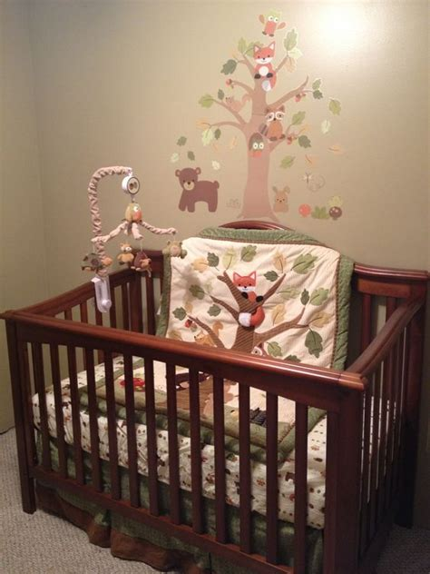 lambs and echo crib bedding forest animals and forests on