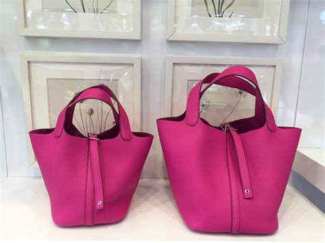 Togo Mini 22cm stitching hermes pink original togo leather