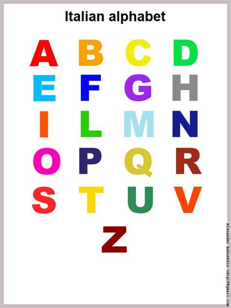 printable alphabet letters in colour colour italian abc for print italian alphabet for print