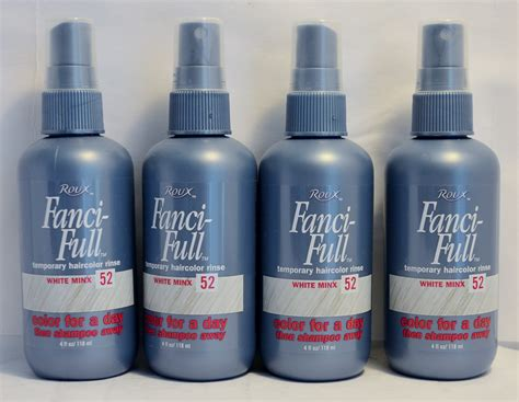 hair rinse colors roux fanci temporary hair color rinse white minx 52 4oz