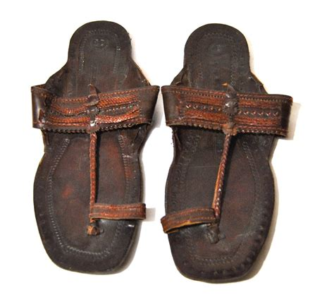 sandals india s vintage leather embossed indian sandals by