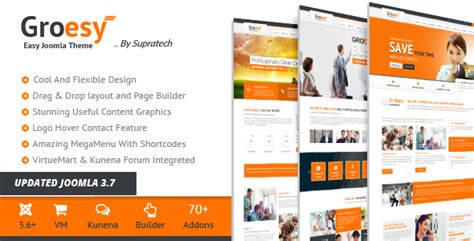 themeforest joomla themeforest groesy download responsive multi purpose