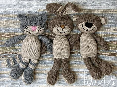twins knitting pattern minishop happy pets flat trio