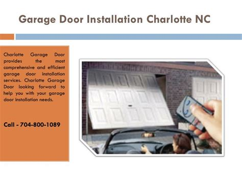 Garage Door Installation Companies Ppt Garage Door Repair Nc Openers Installation Company Powerpoint Presentation