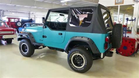 jeep wrangler turquoise for sale 1993 jeep wrangler s 197267 miles turquoise suv i4 2 5l