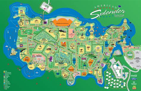 theme park maps map of amusement parks in us images