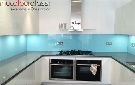 Kitchen Backsplash Blue by Kitchen Glass Splashbacks In Uk At Mycolourglass