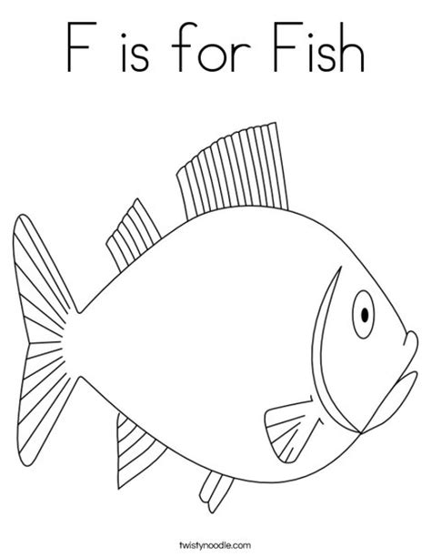 F Fish Coloring Page by F Is For Fish Coloring Page Twisty Noodle