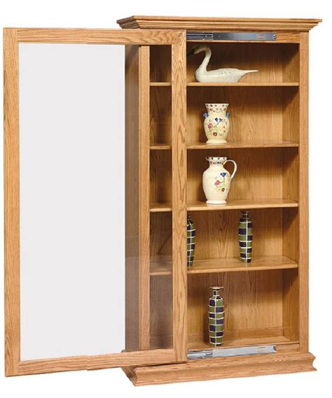 sliding bookshelves amish sliding door large bookcase
