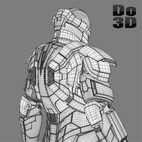 iron man heartbreaker coloring pages 3d printable suit mark xvii armor model heartbreaker mk