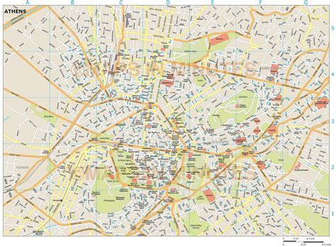 pdf maps athens city map