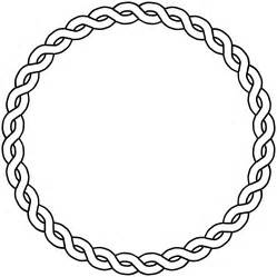 Rope Border Circle Dna Black White Line Art Coloring Book  sketch template