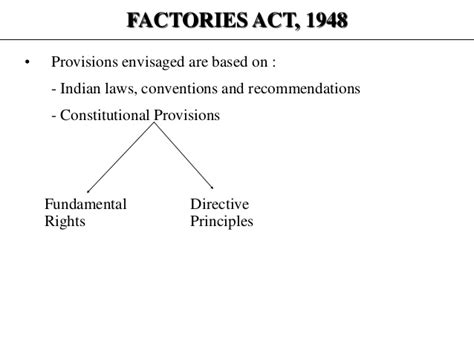 Factories Act 1948 Mba Notes by Hr Presentation