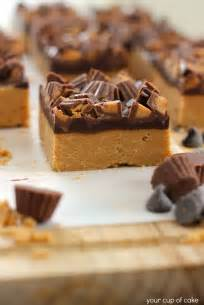 no bake peanut butter chocolate bars your cup of cake