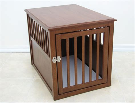 crate puppy wood pet crate