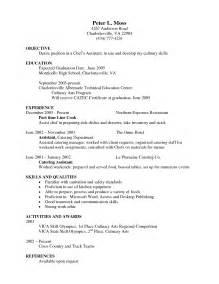 Entry Level Chef Resume by Baker Cover Letter Exles Restaurant Baker Cover Letter Exles For Restaurant Bar