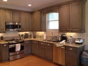 How To Finish Kitchen Cabinets by Kitchen Cabinets Faux Painting