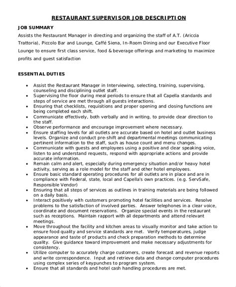 Dining Room Manager Duties Dining Room Manager Description Peenmedia